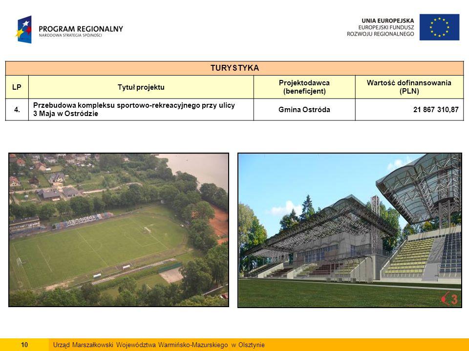 10Urząd Marszałkowski Województwa Warmińsko-Mazurskiego w Olsztynie TURYSTYKA LPTytuł projektu Projektodawca (beneficjent) Wartość dofinansowania (PLN) 4.