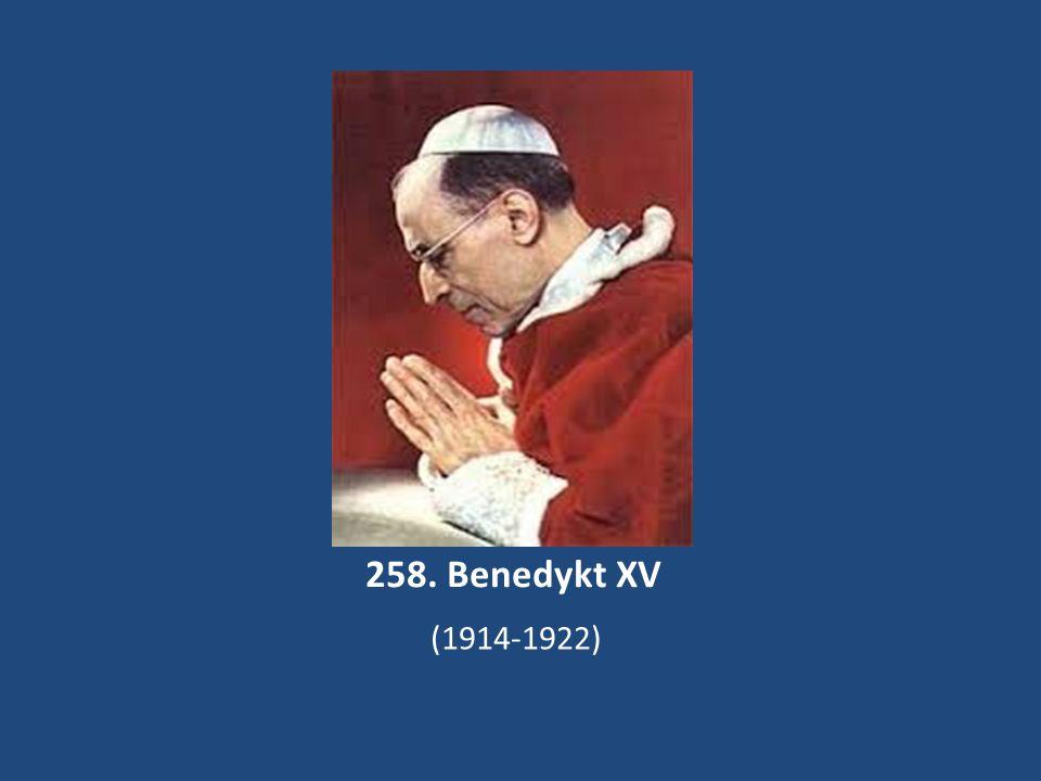 258. Benedykt XV (1914-1922)