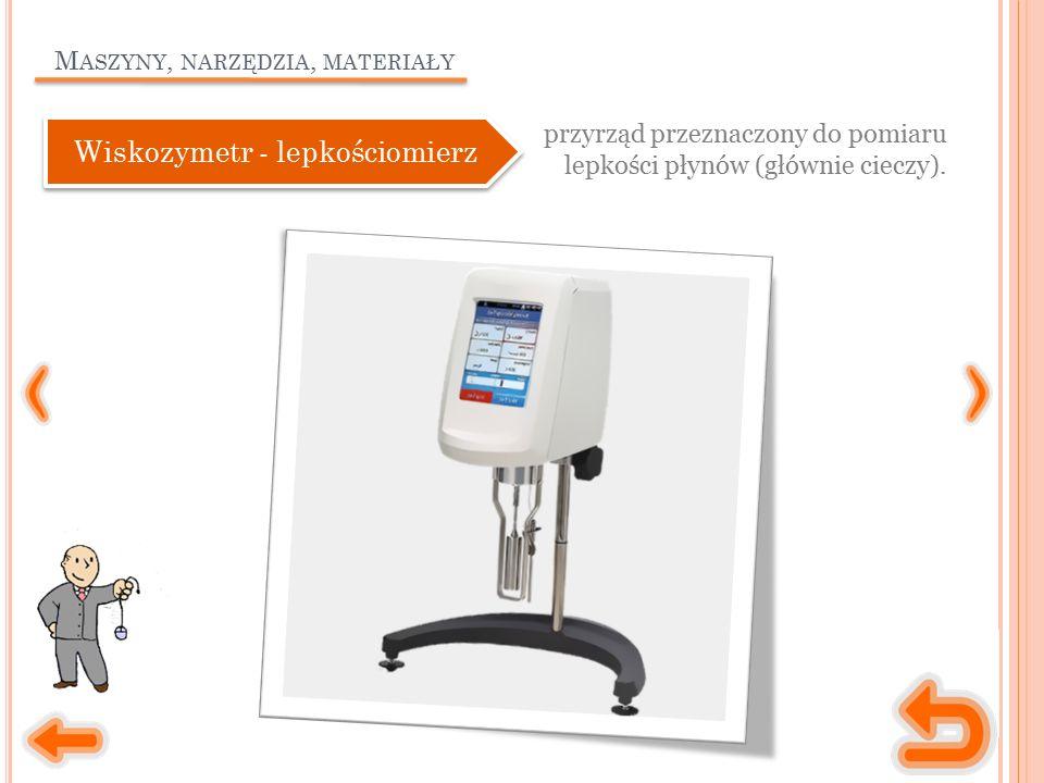 M ASZYNY, NARZĘDZIA, MATERIAŁY waga (elektroniczna lub elektronowa) wykorzystywana do dokładnego ważenia małych ilości substancji.