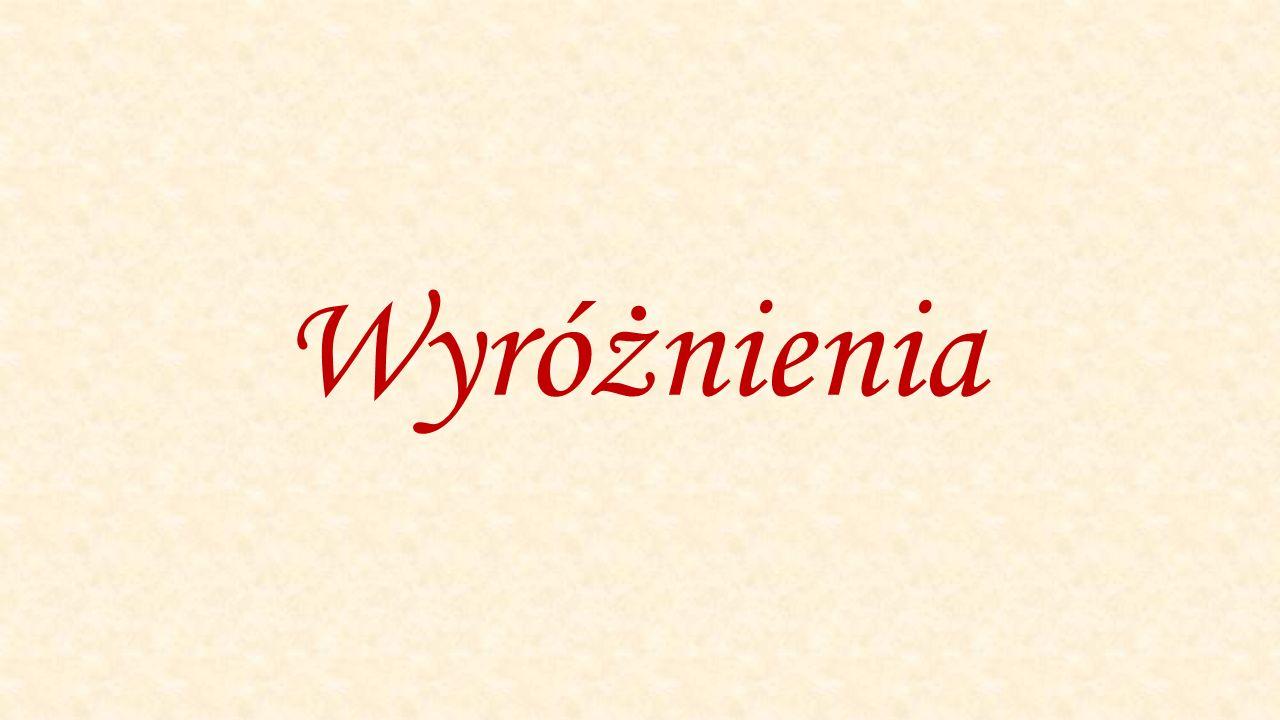 Mariusz Stuczyński Wyróżnienie – kategoria gimnazjum SOSW Piaseczno