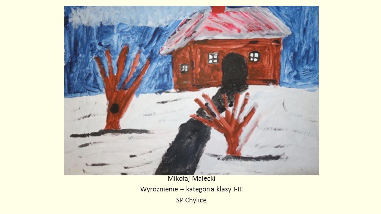Mikołaj Malecki Wyróżnienie – kategoria klasy I-III SP Chylice