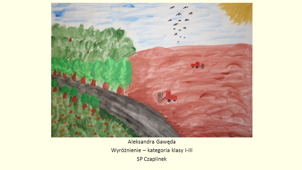 Aleksandra Gawęda Wyróżnienie – kategoria klasy I-III SP Czaplinek