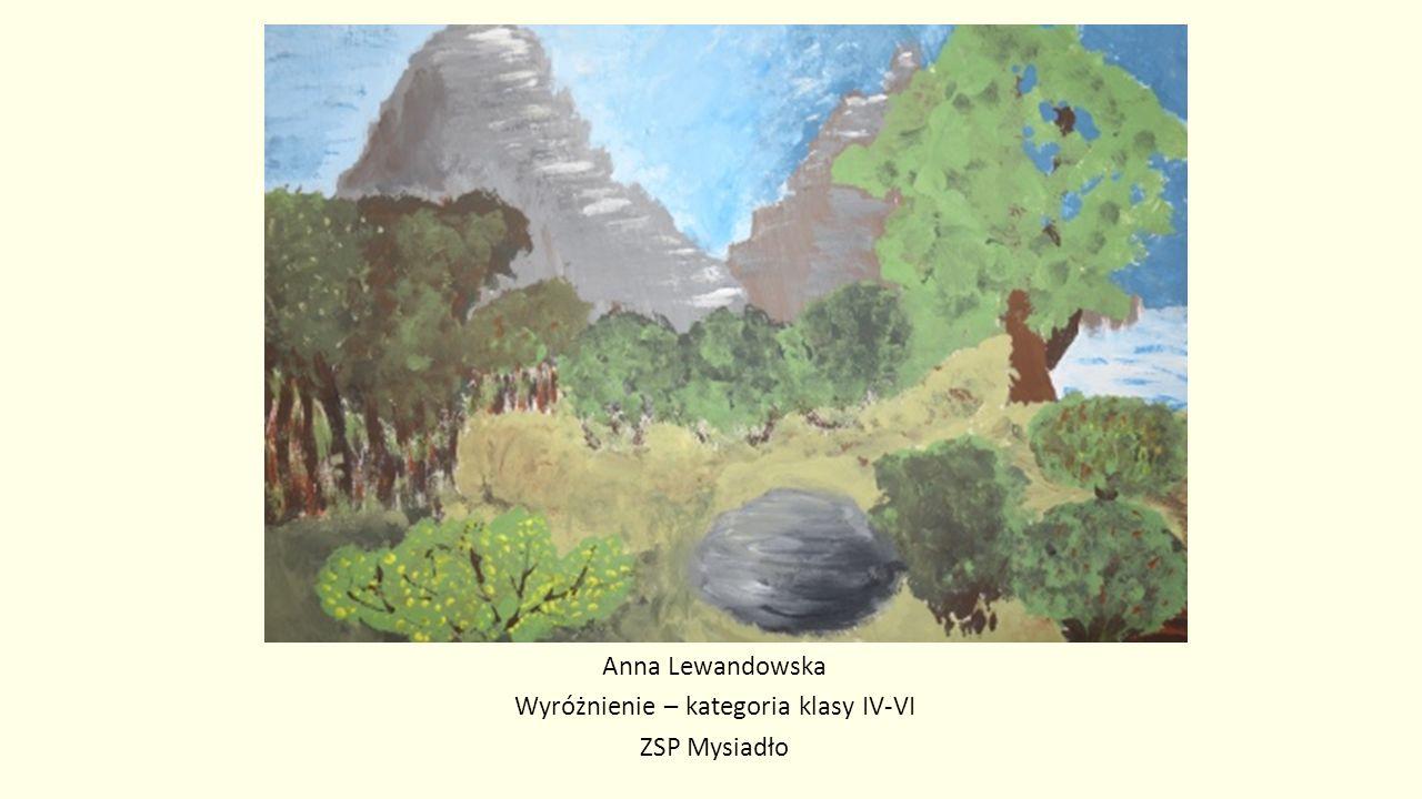 Anna Lewandowska Wyróżnienie – kategoria klasy IV-VI ZSP Mysiadło