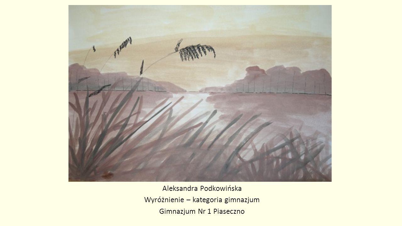 Aleksandra Podkowińska Wyróżnienie – kategoria gimnazjum Gimnazjum Nr 1 Piaseczno