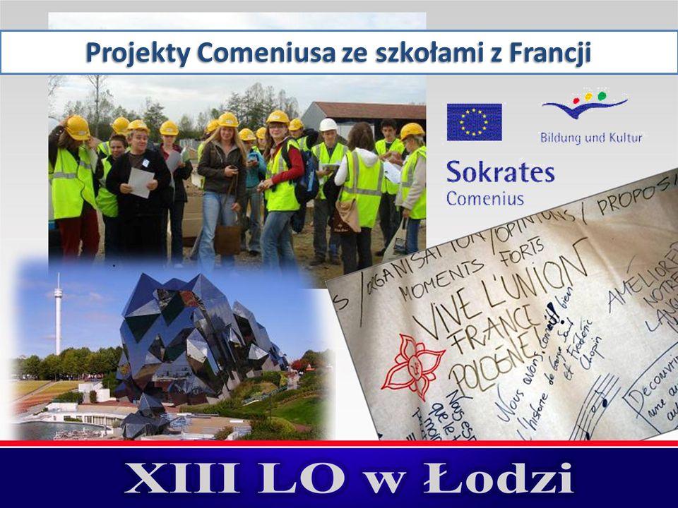 Projekty Comeniusa ze szkołami z Francji