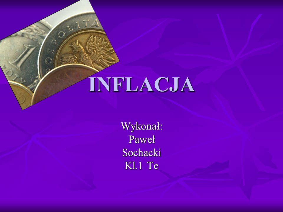 INFLACJA Wykonał:PawełSochacki Kl.1 Te