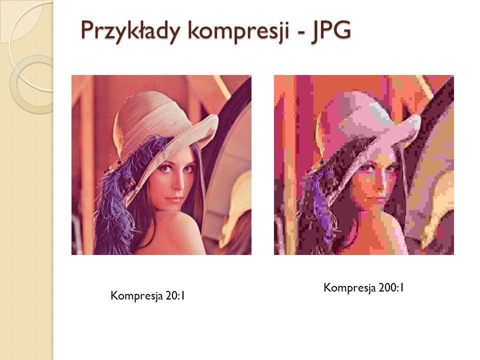 Przykłady kompresji - JPG Kompresja 200:1 Kompresja 20:1