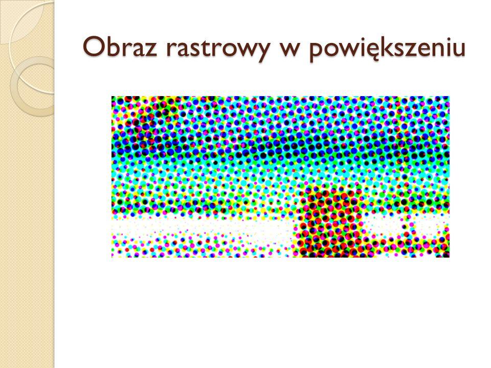 Obraz rastrowy w powiększeniu