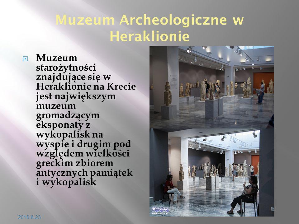 Muzeum Archeologiczne w Heraklionie  Muzeum staro ż ytno ś ci znajduj ą ce si ę w Heraklionie na Krecie jest najwi ę kszym muzeum gromadz ą cym ekspo
