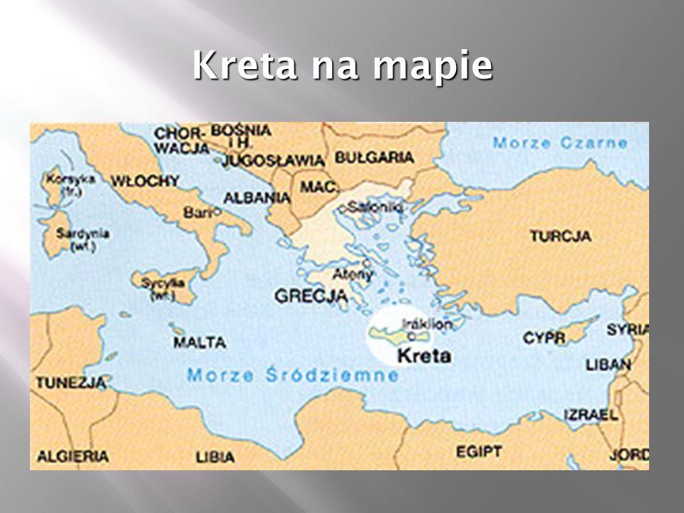 Kreta na mapie