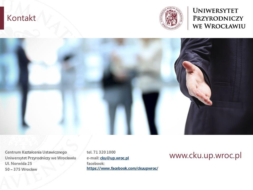 Kontakt Centrum Kształcenia Ustawicznego Uniwersytet Przyrodniczy we Wrocławiu Ul.