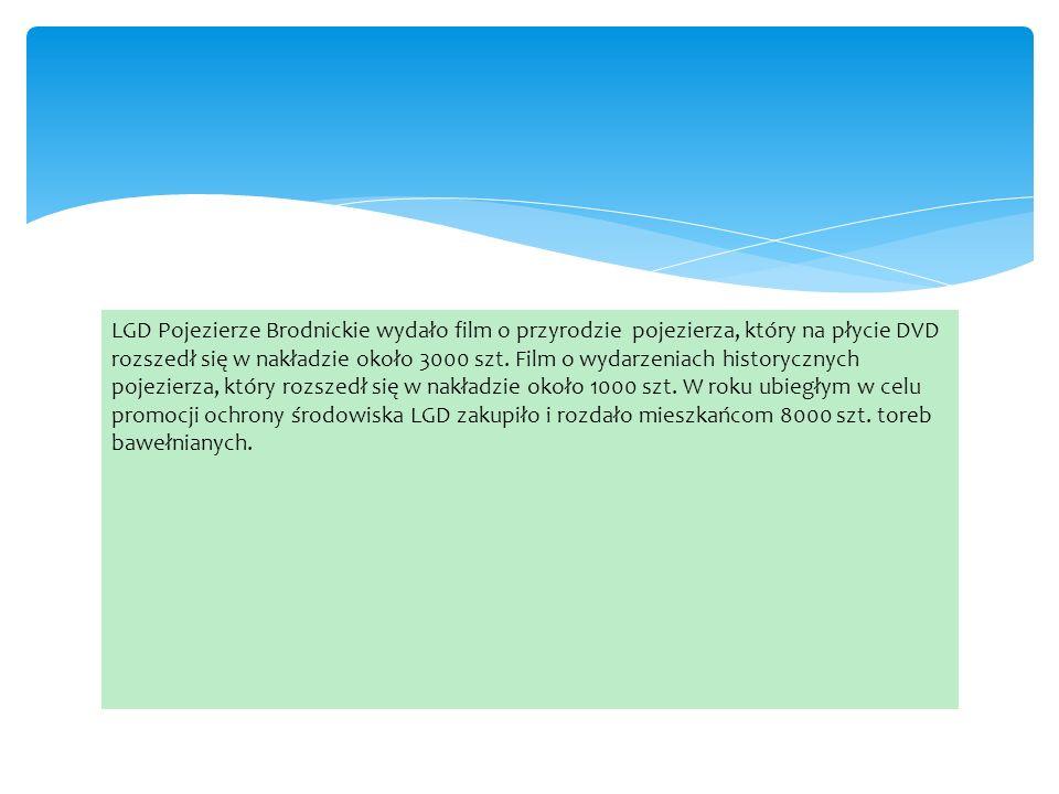 LGD Pojezierze Brodnickie wydało film o przyrodzie pojezierza, który na płycie DVD rozszedł się w nakładzie około 3000 szt.