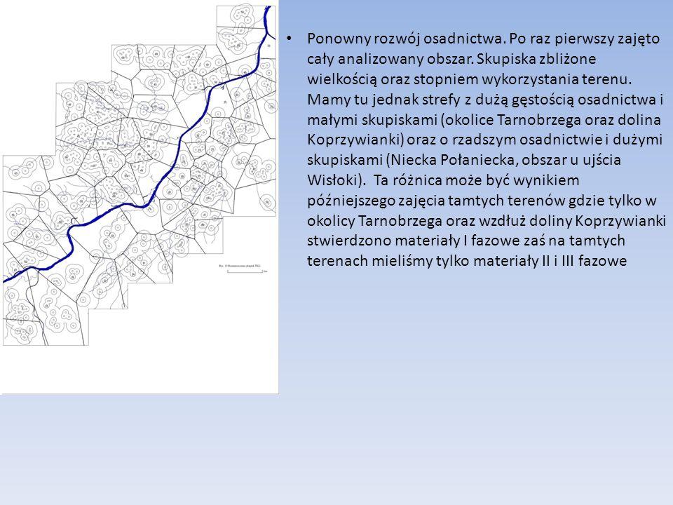 Ponowny rozwój osadnictwa. Po raz pierwszy zajęto cały analizowany obszar. Skupiska zbliżone wielkością oraz stopniem wykorzystania terenu. Mamy tu je