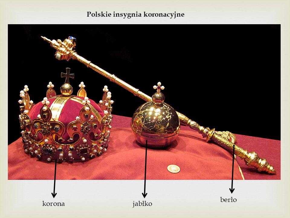Polskie insygnia koronacyjne koronajabłko berło