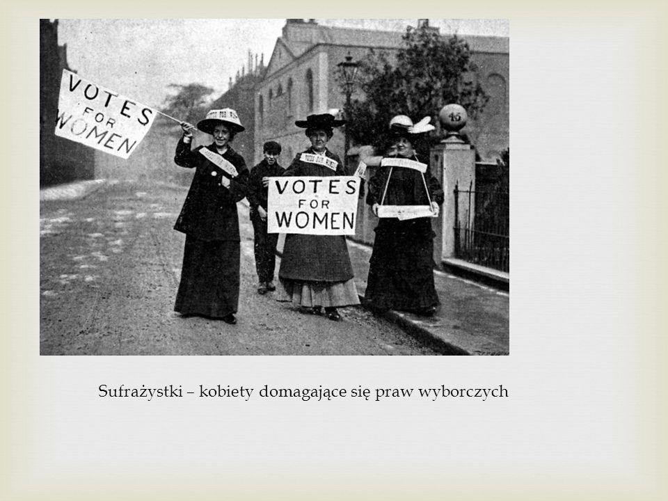 Sufrażystki – kobiety domagające się praw wyborczych