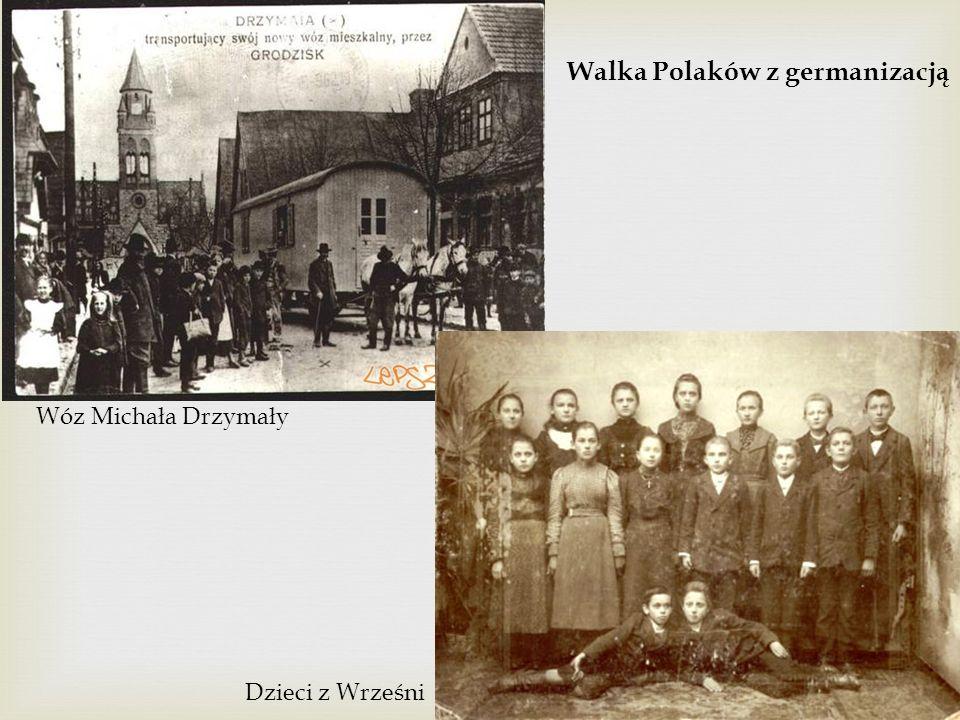 Walka Polaków z germanizacją Wóz Michała Drzymały Dzieci z Wrześni