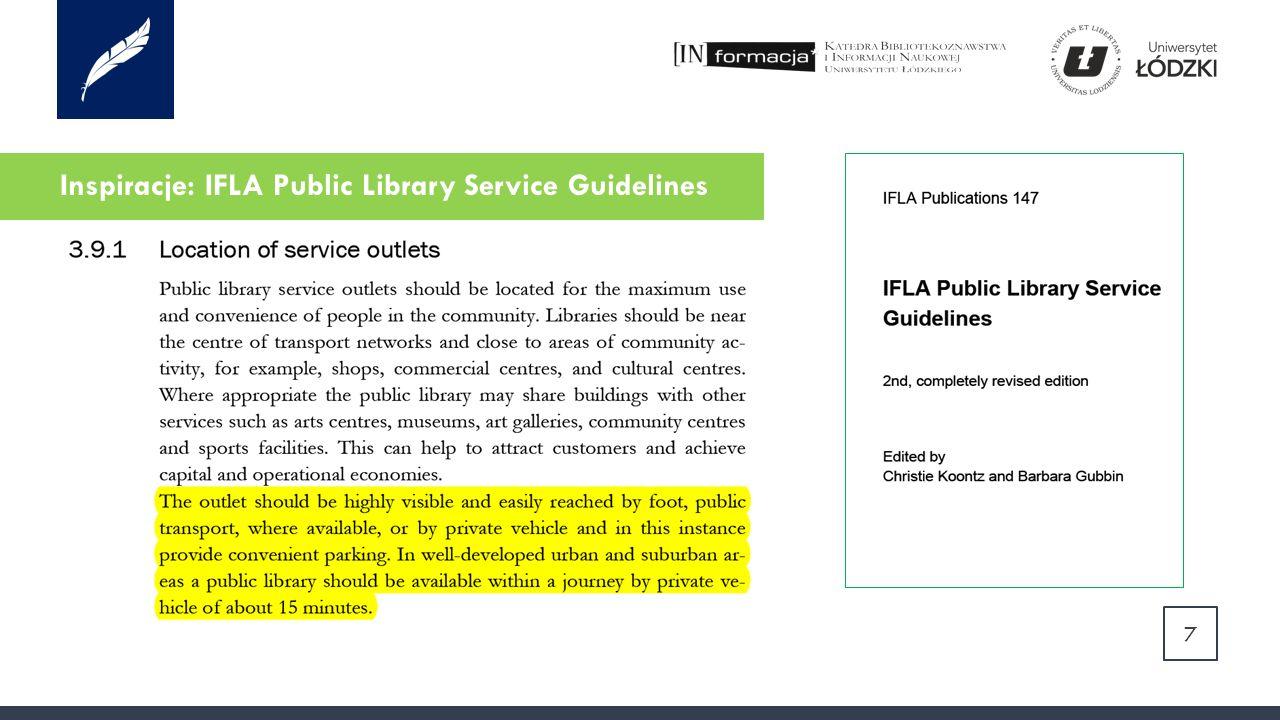 Inspiracje: IFLA 8 Služby veřejných knihoven: směrnice IFLA.