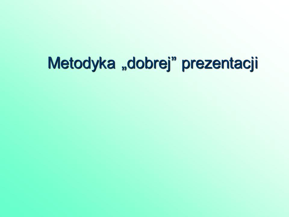 """Metodyka """"dobrej prezentacji"""