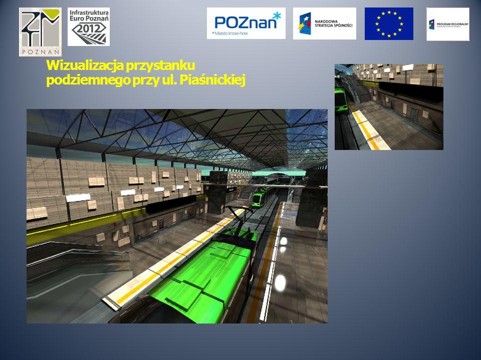 Wizualizacja przystanku podziemnego przy ul. Piaśnickiej