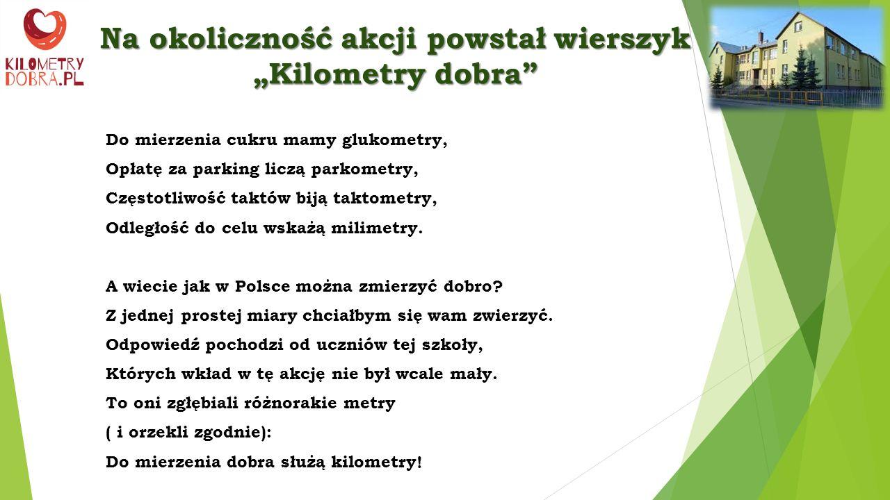 KILOMETRY DOBRA Zespół Szkół w Borkach-Kosach Szkoła Podstawowa i Gimnazjum im.