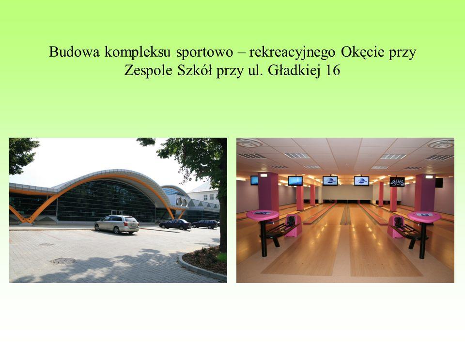 Budowa kompleksu sportowo – rekreacyjnego Okęcie przy Zespole Szkół przy ul. Gładkiej 16