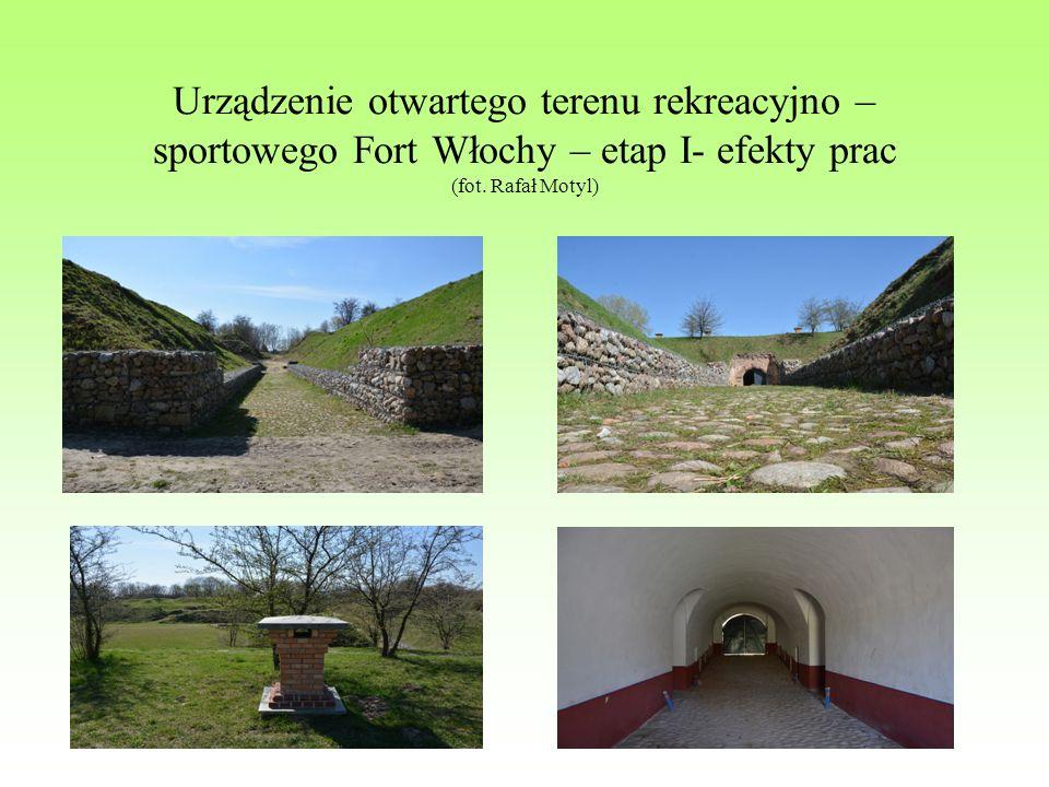 Urządzenie otwartego terenu rekreacyjno – sportowego Fort Włochy – etap I- efekty prac (fot.