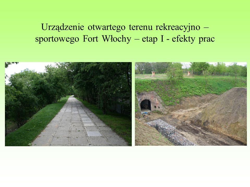 Urządzenie otwartego terenu rekreacyjno – sportowego Fort Włochy – etap I - efekty prac