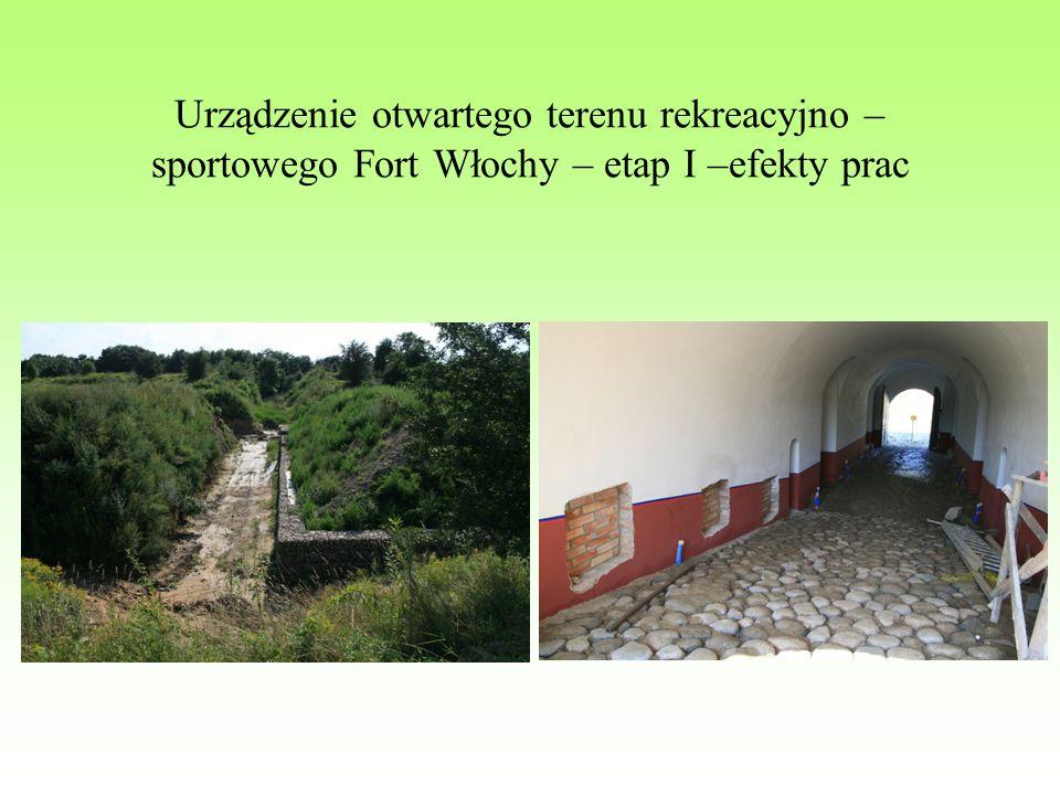 Urządzenie otwartego terenu rekreacyjno – sportowego Fort Włochy – etap I –efekty prac