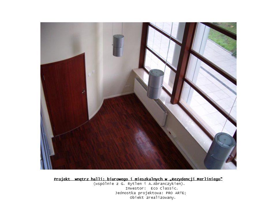 Projekt wnętrz apartamentu w budynku mieszkalnym przy ul.
