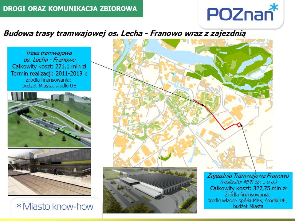 Budowa trasy tramwajowej os. Lecha - Franowo wraz z zajezdnią Trasa tramwajowa os.