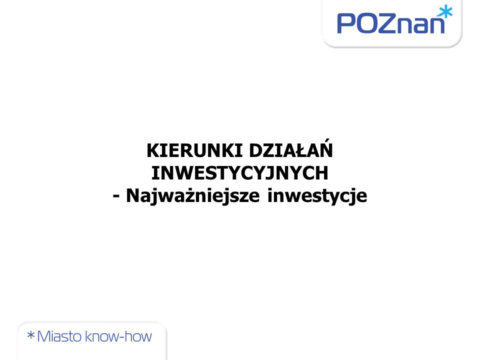 Przedłużenie PST do Dworca Zachodniego wraz z modernizacją węzła na Moście Teatralnym Całkowity koszt: 98,5 mln zł Termin realizacji: 2011-2012 r.