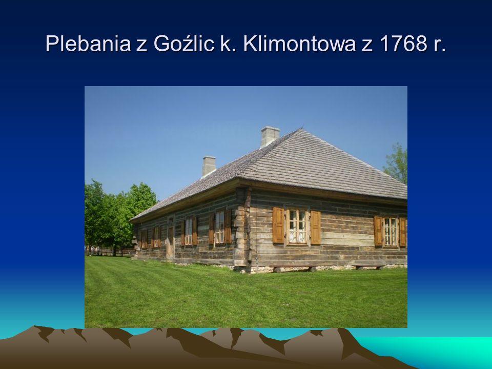 Plebania z Goźlic k. Klimontowa z 1768 r.