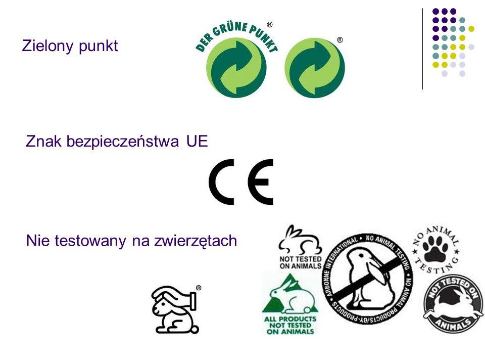 Zielony punkt Znak bezpieczeństwa UE Nie testowany na zwierzętach