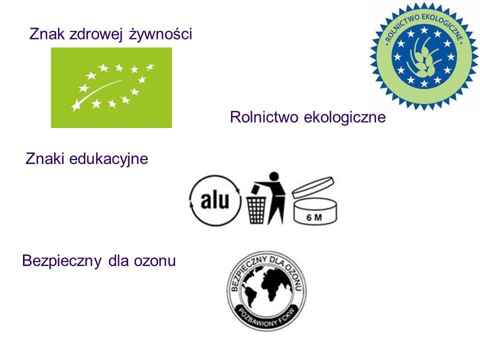 Znak zdrowej żywności Znaki edukacyjne Bezpieczny dla ozonu Rolnictwo ekologiczne