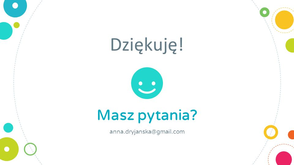 Dziękuję! Masz pytania anna.dryjanska@gmail.com