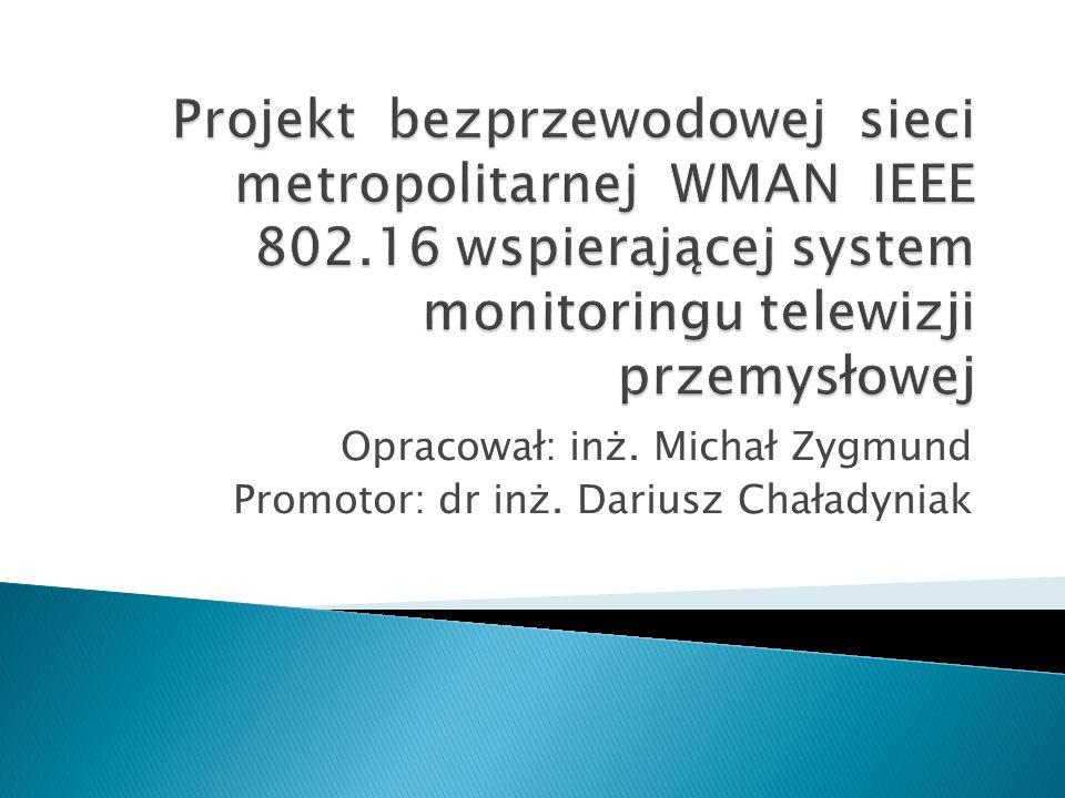 Opracował: inż. Michał Zygmund Promotor: dr inż. Dariusz Chaładyniak