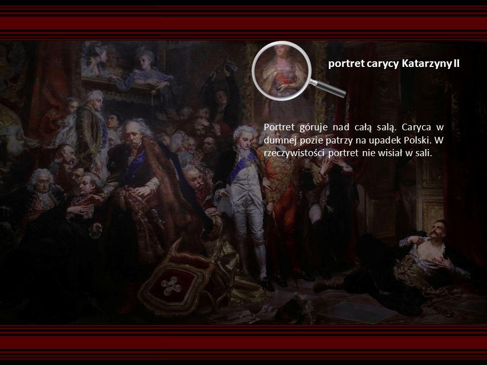 portret carycy Katarzyny II Portret góruje nad całą salą.