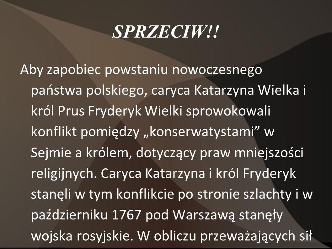 5 sierpnia 1772- początek najgorszego Klęska konfederacji barskiej była dramatycznym początkiem następnych, tragicznych dla Polski zdarzeń.
