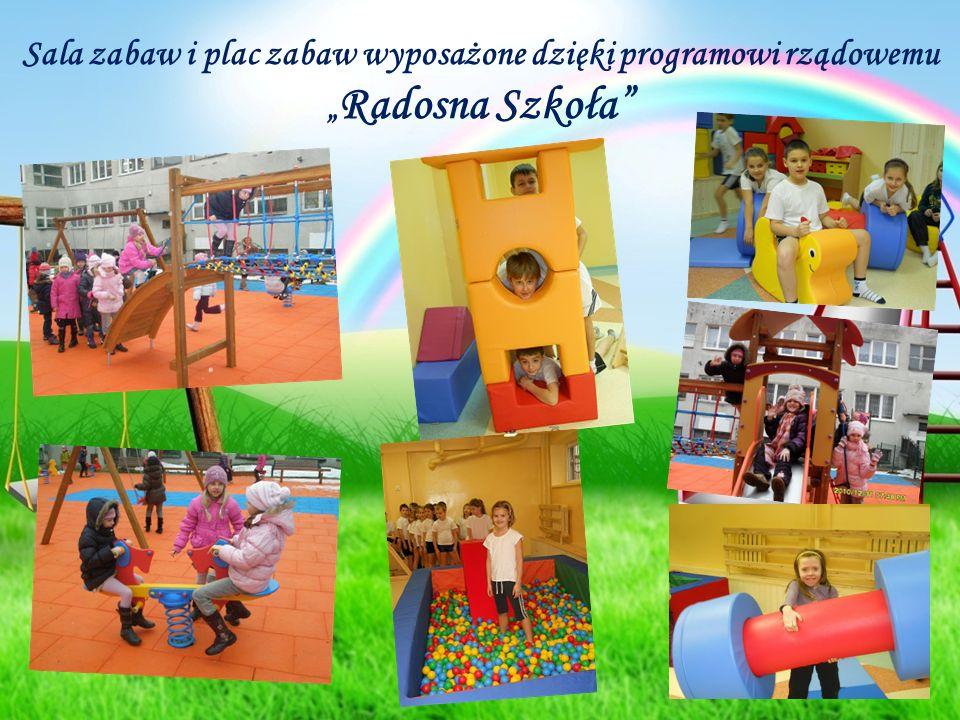 """Sala zabaw i plac zabaw wyposażone dzięki programowi rządowemu """" Radosna Szkoła"""""""