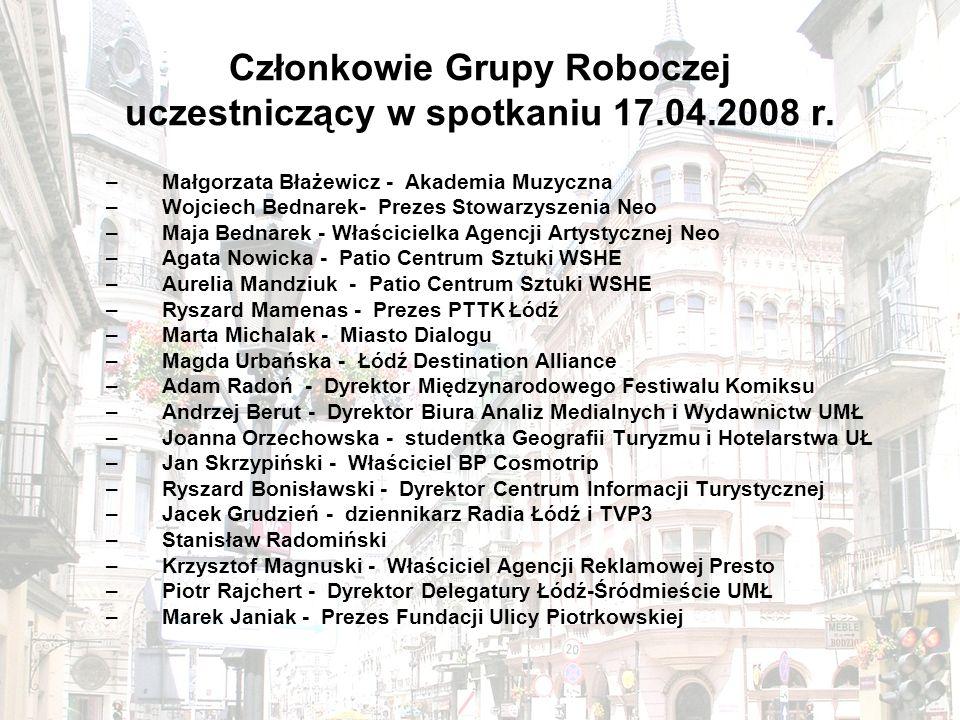 Członkowie Grupy Roboczej uczestniczący w spotkaniu 17.04.2008 r.