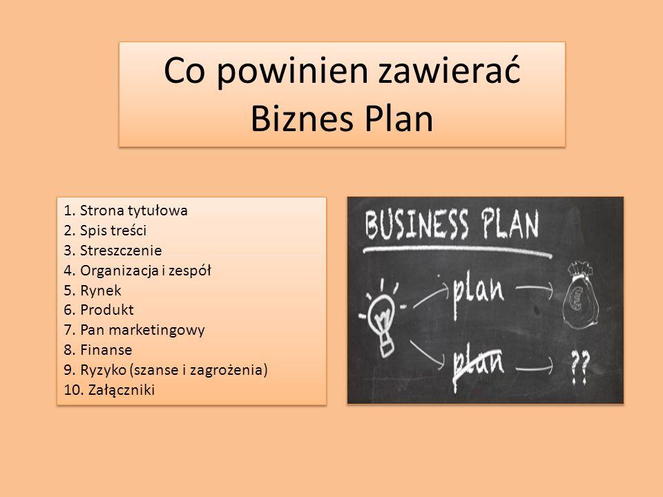 Co składa się na dobry Biznes Plan?
