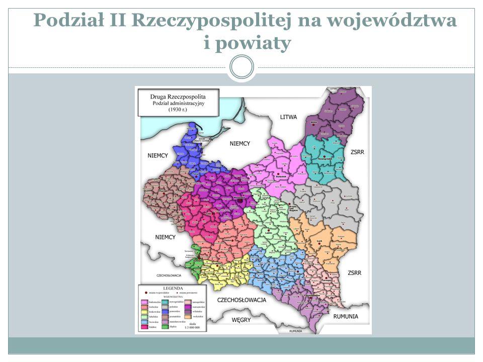 Podział II Rzeczypospolitej na województwa i powiaty