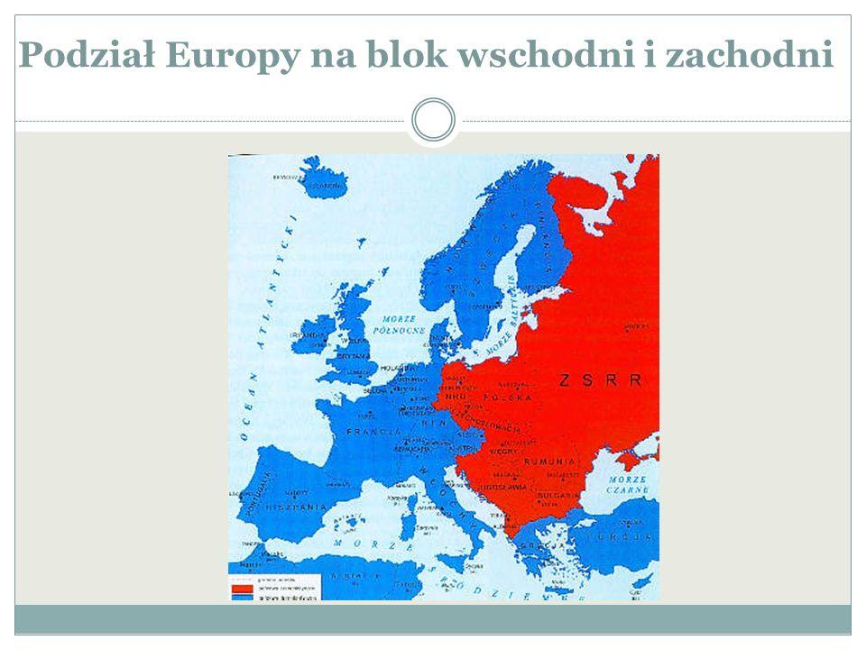 Podział Europy na blok wschodni i zachodni