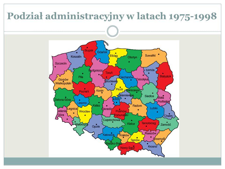 Podział administracyjny w latach 1975-1998