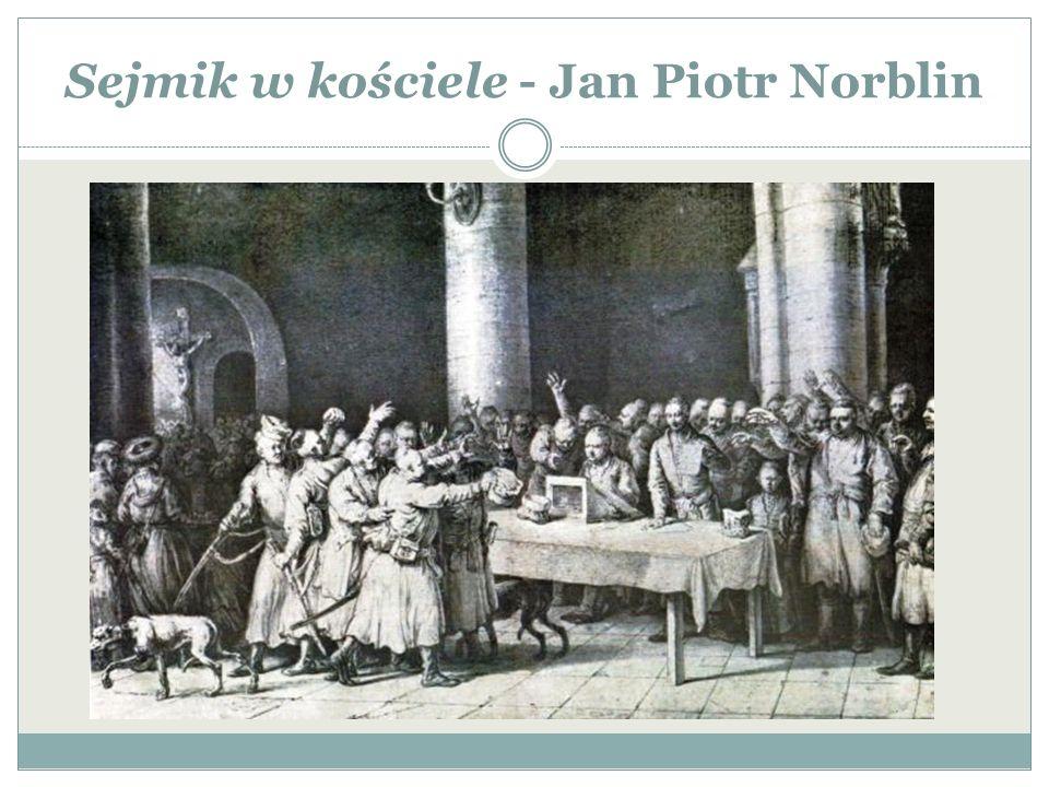 Sejmik w kościele - Jan Piotr Norblin