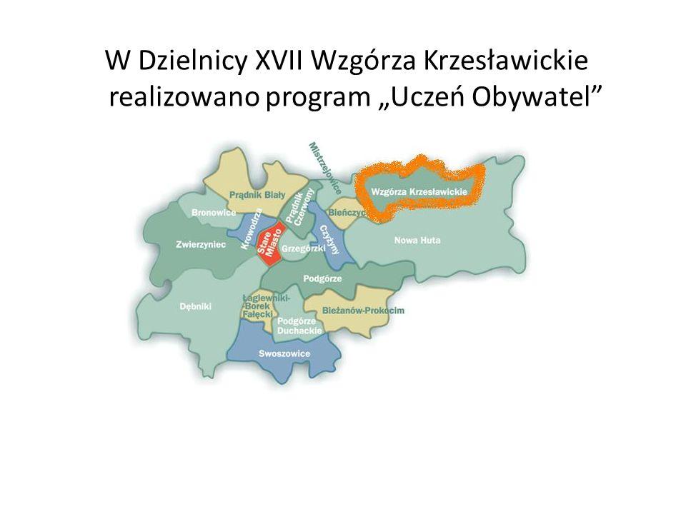 """W Dzielnicy XVII Wzgórza Krzesławickie realizowano program """"Uczeń Obywatel"""
