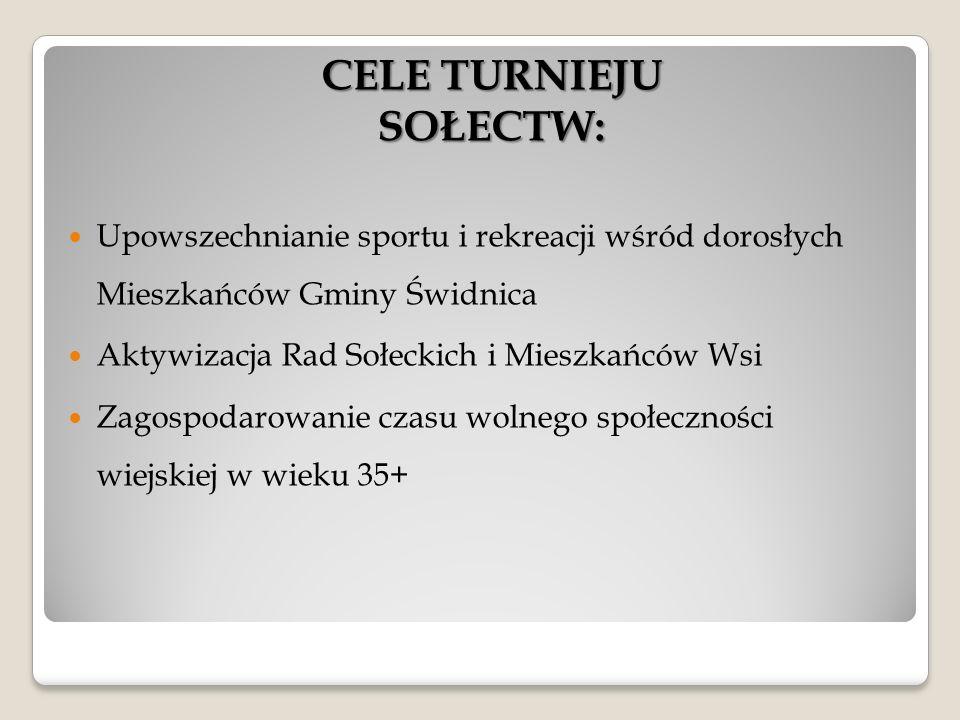 """Alternatywną formą spędzania czasu wolnego na terenie Gminy Świdnica jest cykl Turniejów """"Sportowe weekendy na Wsi ."""