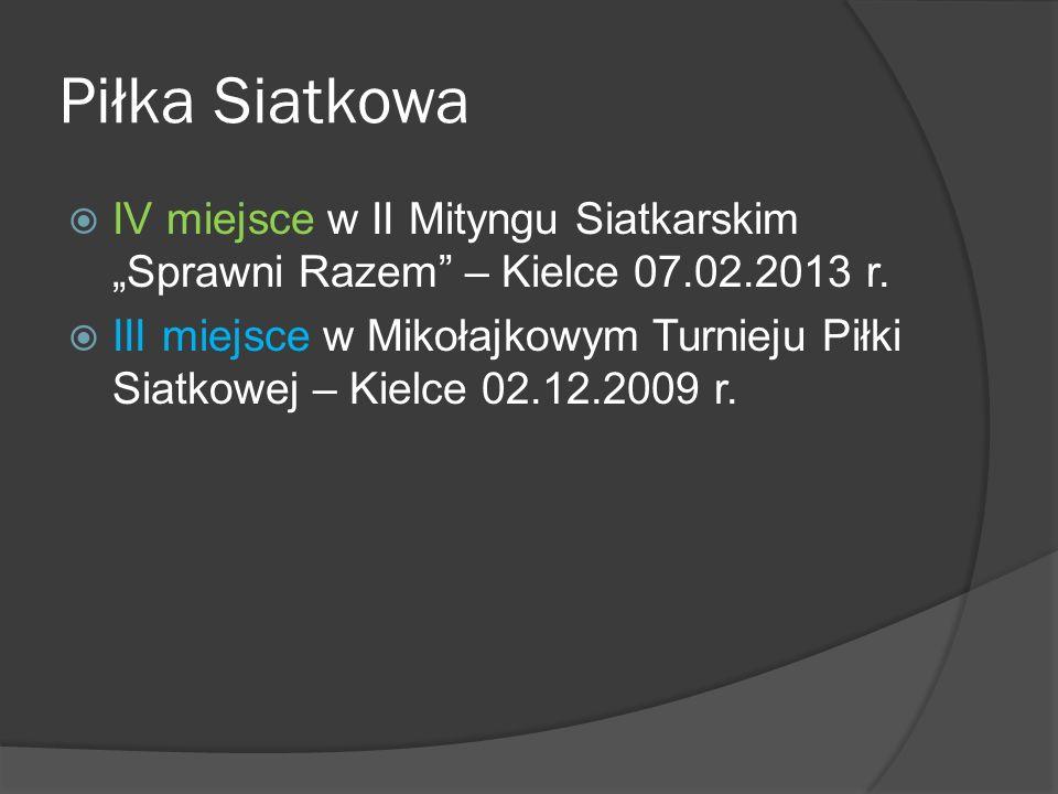 """Piłka Siatkowa  IV miejsce w II Mityngu Siatkarskim """"Sprawni Razem – Kielce 07.02.2013 r."""