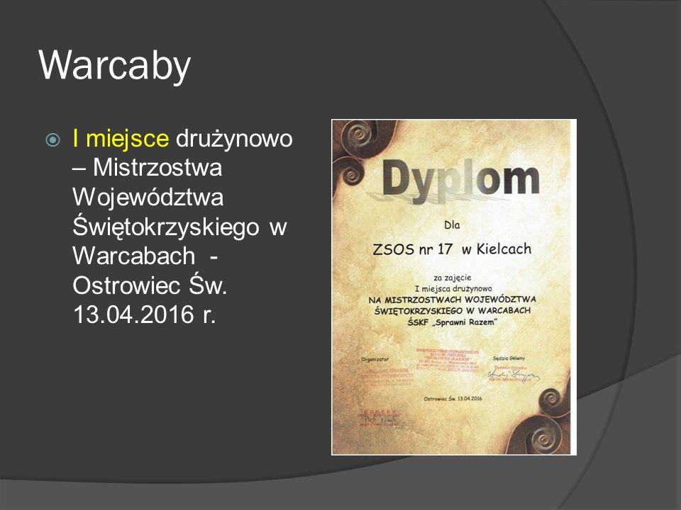 Warcaby  I miejsce drużynowo – Mistrzostwa Województwa Świętokrzyskiego w Warcabach - Ostrowiec Św.