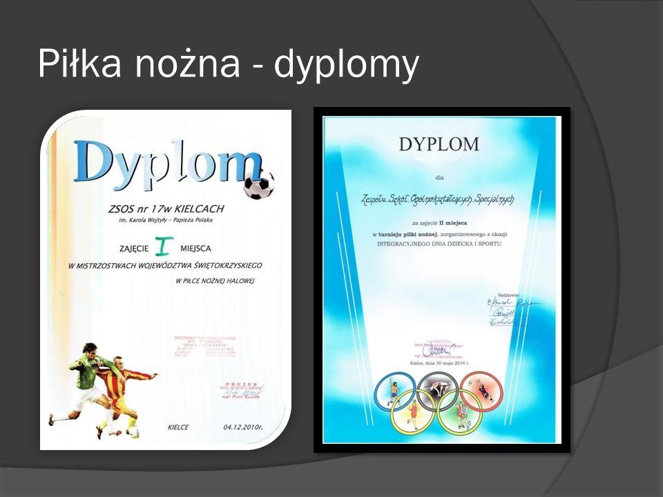 Piłka nożna - dyplomy